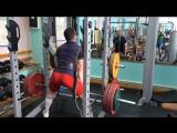 Тренировка мышц спины и ног. Егор Галкин