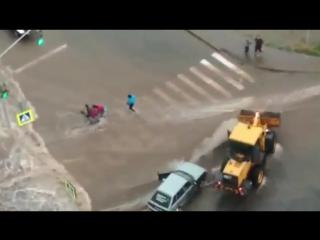 Водители предотвратили трагедию
