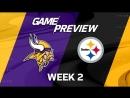 NFL Week 2 - Vikings at Steelers | LIVE | Rus
