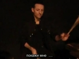 Drum lessons with Chester Bennington and Elias Andra from Dead By Sunrise (RUS Subs)