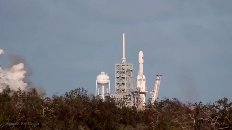 SpaceX - Falcon Heavy Demo - slow motion w⁄ high quality audio