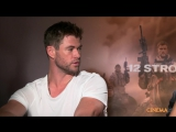 Chris Hemsworth and Michael Pena for 12 Strong