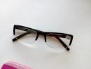 Мужские очки, полуоправные очки, пластиковая оправа, белая линза