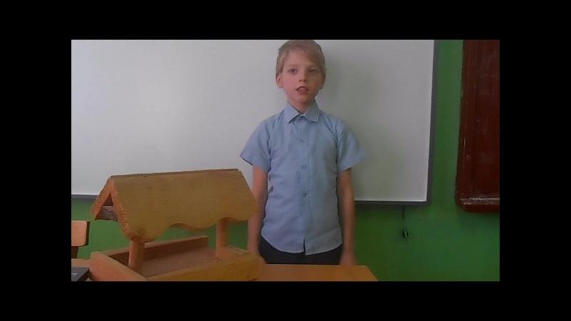 Участник акции Живая вода -Кирилл Кузнецов, ученик 2 класса Вахневской школы, Никольский район п. Филинский.
