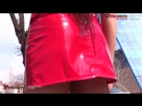 Girls Wearing Latex, PVC and High Heels in Public