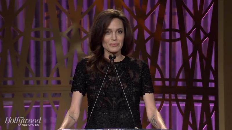 Речь Анджелины на завтраке «The Hollywood Reporter»