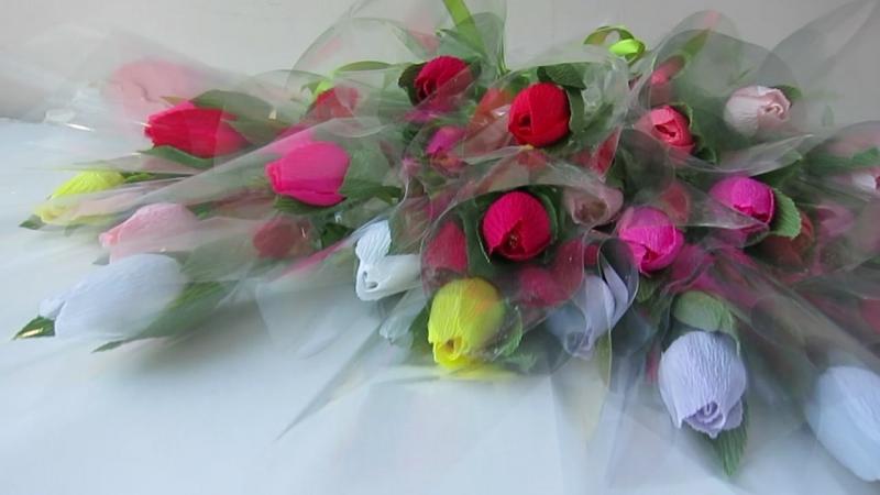 Тюльпани з цукерками