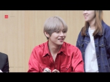 Taehyung's sweet reaction to the baby
