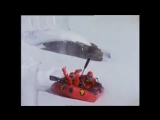 Рафтинг с горы по снегу