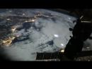 видео полета МКС над Землёй
