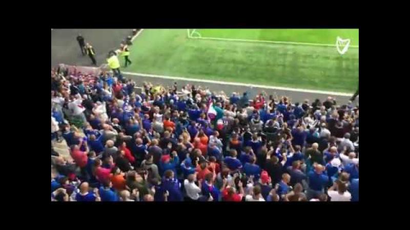 Linfield v Celtic - Blues supporters taunt bhoys fans at Windsor Park