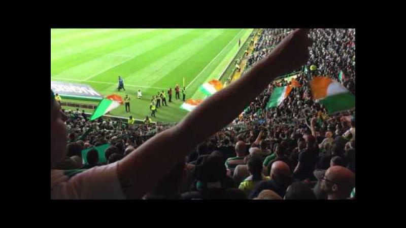 Celtic Fans singing Grace | Celtic vs Linfield