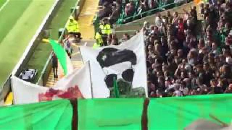 Celtic Fans | Green Brigade Display | Rebels | Celtic vs Linfield