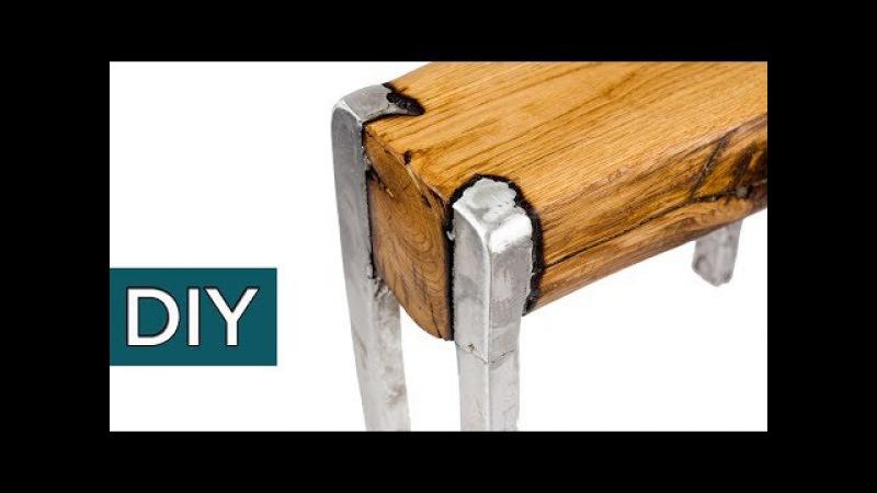 Сплав ДЕРЕВА и АЛЮМИНИЯ. Секретная технология. Как сделать мебель своими руками. стройхак