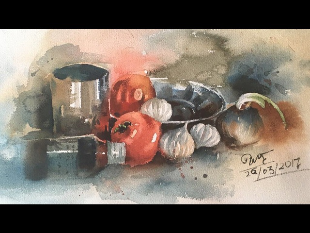 Still Life in watercolor. Speed painting by Prashant Sarkar