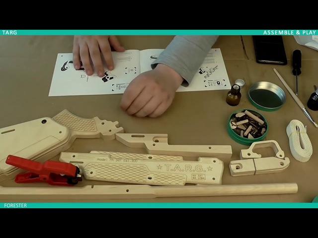Инструкция по сборке винтовки из дерева FORESTER от T.A.R.G.
