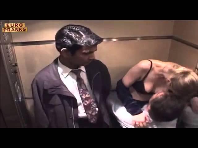 секс в лифте(розыгрыш)