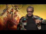 Jeff Goldblum sings his own Jurassic Park theme in our Thor:Ragnarok interview