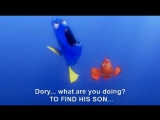 Finding Nemo Dory speaking 'whale' SUBTITLES