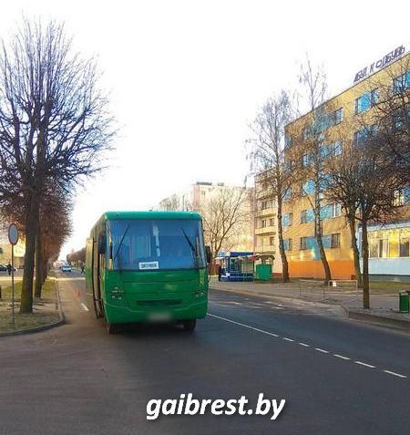 В Кобрине в результате наезда автобуса пострадал пешеход