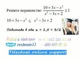 Математика ЕГЭ Решение неравенства без модуля методом интервалов