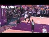 Lebron James dunk on baseline