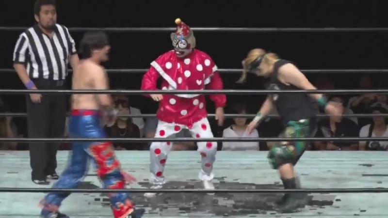 Atsushi Maruyama vs. Kuishinbo Kamen vs. Yasu Urano (Machida Pro-Wrestling Festival Vol. 1)