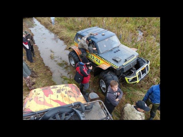 УАЗ в стоке разорвал два БОЛОТОХОДА на ВИ-3 OFF ROAD 4X4
