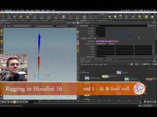 Houdini16 rigging a leg with foot roll