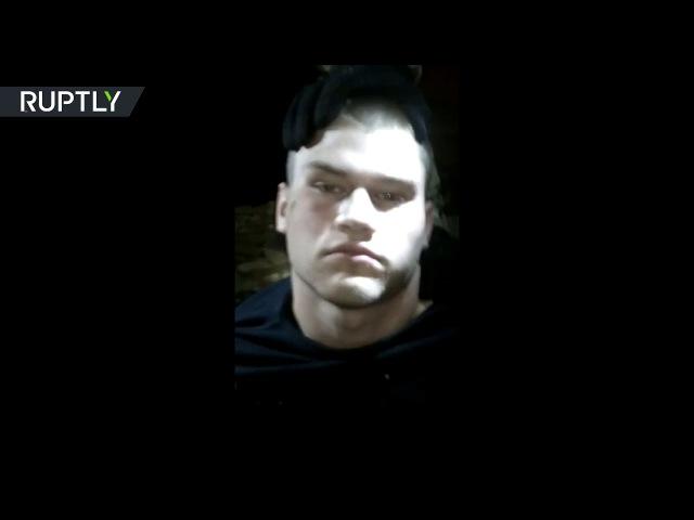 Кадры задержания подозреваемого в нападении на полицейских в Краснодаре