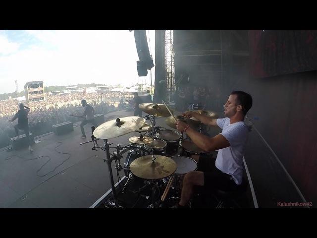 Matt Greiner from August Burns Red at SummerBreeze 2017 Drum Cam