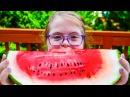 Watermelon Eating Contest! (Sarah Grace vs Olivia Haschak)