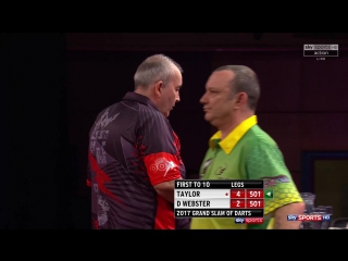Phil Taylor vs Darren Webster (Grand Slam of Darts 2017 / Round 2)