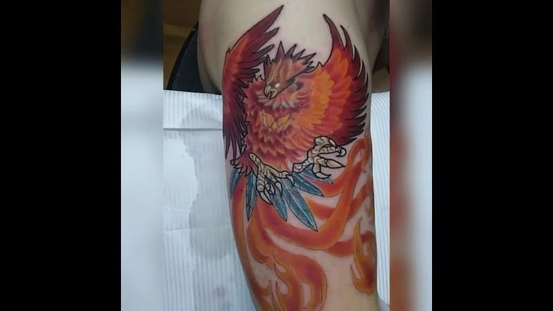 Феникс. Татуировка в Стрежевом.