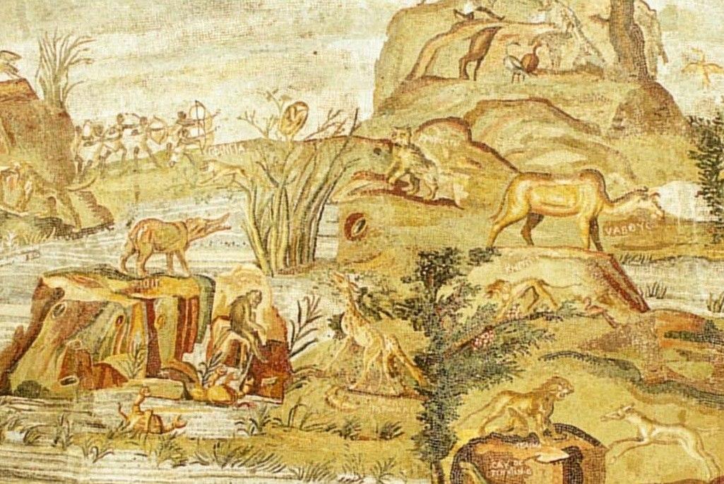 палестринская мозаика динозавры