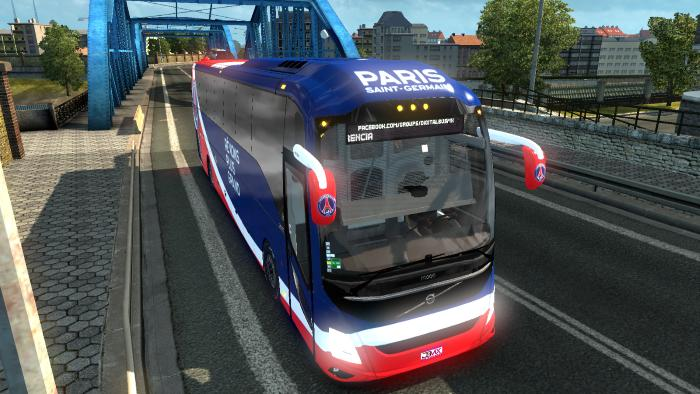 VOLVO 9800 BUS PARIS SAINT GERMAIN SKIN 1.30