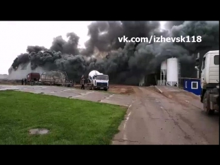Пожар на территории склада РБУ по ул. Архитектора П. П, Берша.
