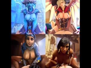 Vk.com/watchgirls rule34 overwatch sombra mercy ana pharah sfm 3d porn sound