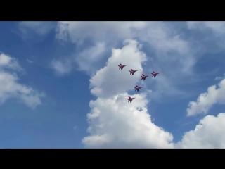 Пилотажная группа Стрижи в Магнитогорске 13 июля 2017
