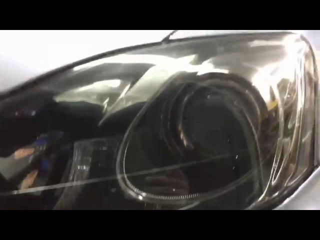 Тюнинг фар lexus is250 / диодные фар / установка biled / установка диодов в дальний