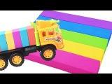 Kinetic Sand Rainbow Ice Cream Cake Heart Cars Learn Colors with Johny Johny Yes Papa Nursery Rhymes