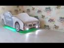 кровать с подсветкой на пульте