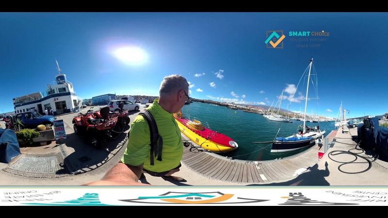 Подводная лодка на Тенерифе, 360 видео в одном из яхт клубов.