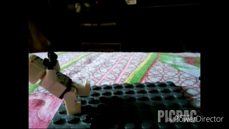 Lego Star Wars clone trooper vs CIS droids stop motion test