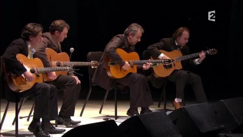La -Marseillaise- en jazz manouche au Châtelet - Romane - Ferré (gypsy guitar)