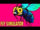 Михакер Fly Simulator Смешные моменты перевод ХУДШАЯ ПИЦЦЕРИЯ И МУХИ
