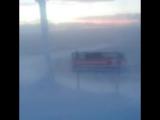 Метель, где порывы ветра достигали 115 км/ч, в провинции Херьедален (Швеция, 7 января 2018 года).