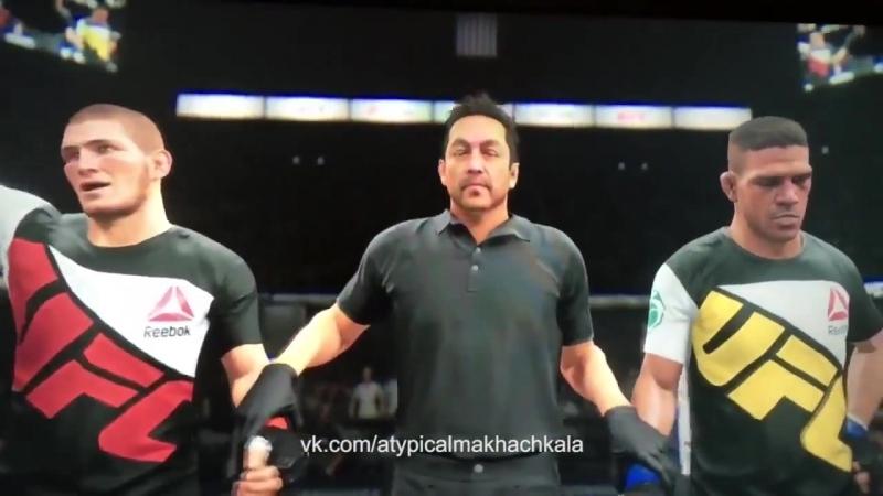 Хабиб Нурмагомедов перекрестился в игре UFC Явная ошибка!