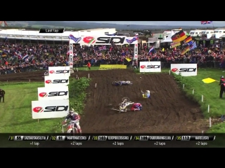 Max Anstie Crash during Qualifying- 2017 Monster Energy FIM MXoN Presented by Fiat Professional