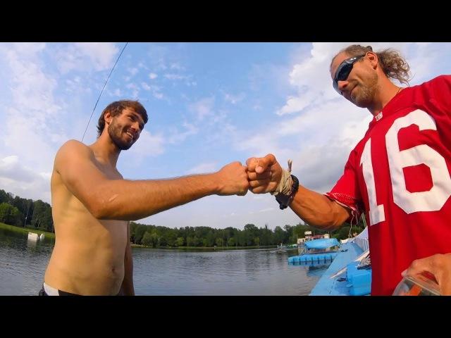 Wakeboarding in Sokolniki with Igor Ilinykh Sergey Montana